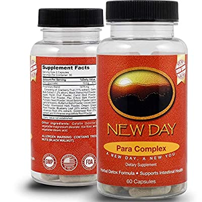 New Day Health   10-Day para Complex Natural Gentle Intestinal Support Formula   Made with Premium Ingredients Including Wormwood, Cloves, Black Walnut Hull, Goldenseal Roots, and More! from New Day Health