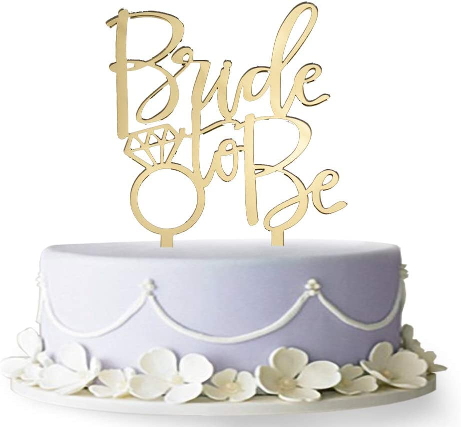 Bride Our shop most popular to Be Sales results No. 1 Cake Topper Party Bachelorette Engagement Decorati