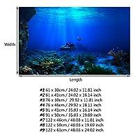 91 X41Cm防水水族館ポスターポスター水族館用粘着剤(122*61cm)