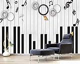 Papel Pintado 3D Pestañas De Piano De Madera Para Piano Fotomurale 3D Tv Telón De Fondo Pared Decorativos Murales Moderna