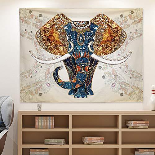 Tapiz de Ciervo Diseño Abstracto Tema de Ciervo Maderas Estilo étnico Dormitorio Colgante de Tela Paño Colgante de Pared para Dormitorio Sala de Estar Dormitorio