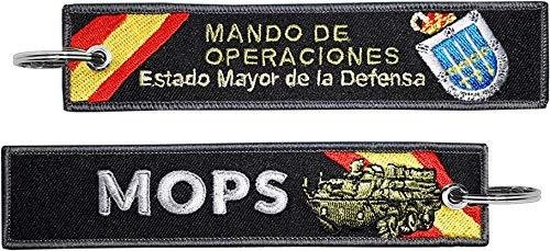 Tacro Llavero Bordado Fuerzas Armadas MOPS Mando de Operaciones Estado Mayor de Defensa Militar España