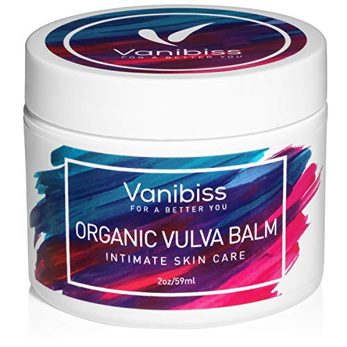 Vanibiss Organic Vulva Balm-Vaginal Moisturizer, Menopause Dryness-Estrogen Free (2oz)