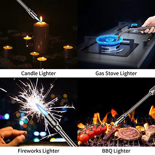 Megainvo Jet Lighter Candle Long Butane lighter 360 °Flexible Stainless Steel Hose Refillable Gas lighter Windproof…