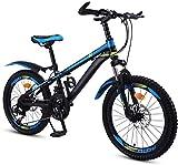 Aoyo Kinderfahrrad 20 Zoll mit Variabler Geschwindigkeit Red Mountain Bike, bequemer Sattel, rutschfestes Pedal Rennrad, Federgabel, sicher und einfühlsam Brake, (Color : Blue)