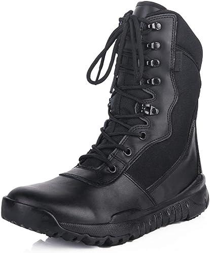botas de Combate ultraligeras para Hombre añortiguamiento botas Altas Zapaños Ejército Militar al Aire Libre botas del Desierto Senderismo Trabaño Utilidad Calzaño