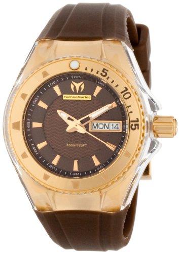 TechnoMarine 111009 - Reloj de Pulsera Mujer, Silicona, Color Marrón