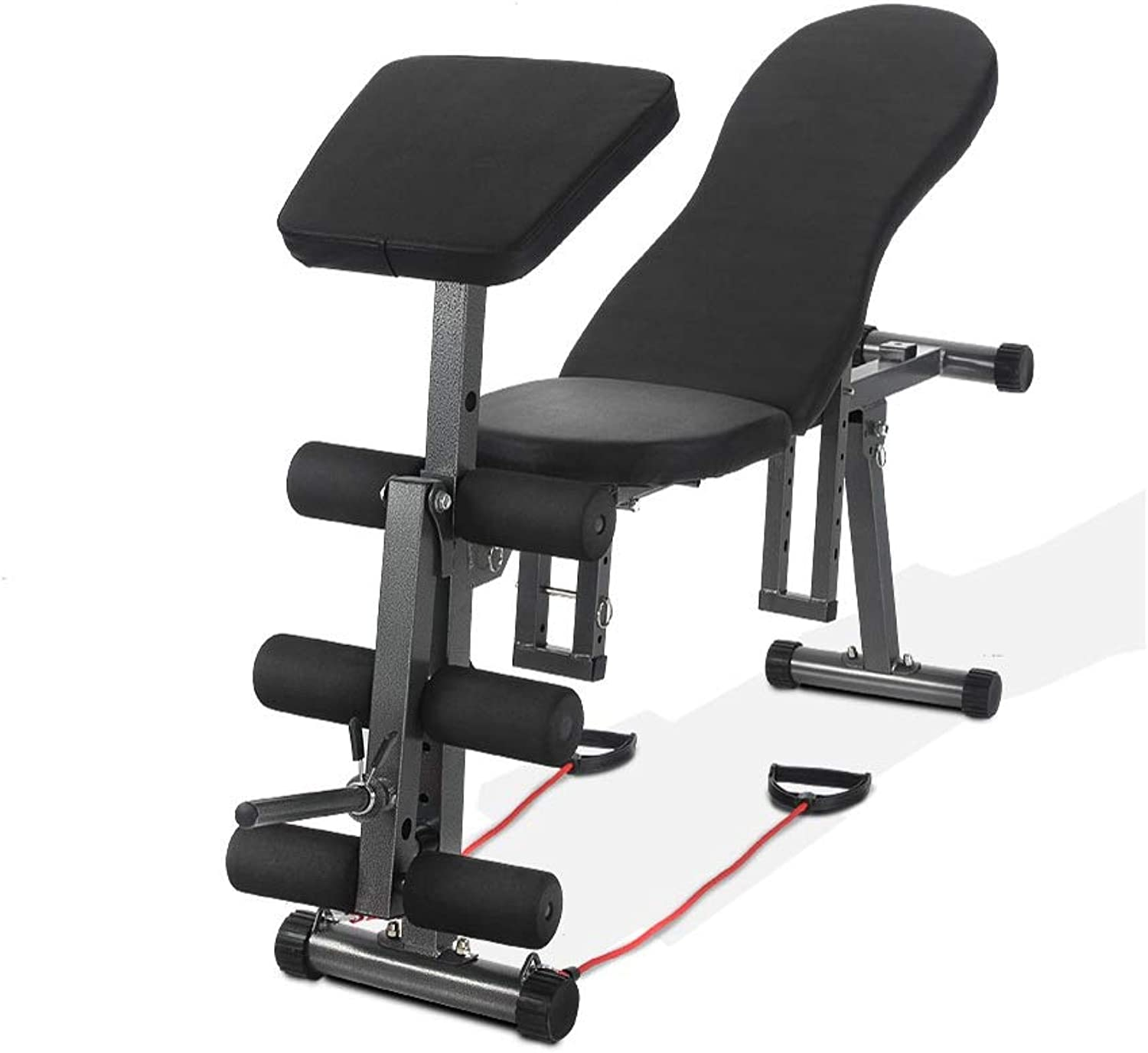KFXL Strength Training Benches Weight Bench  Black Home Fitness Equipment for Bench Press Folding Chair Bench Press