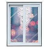 LXHONG Winter-Fenster-Isolierset, Selbstklebender Kunststoff Fensterfolie PE-Isolierfolie Für Haushaltswärme Im Winter Für Küche Schlafzimmer Badezimmer Fenster (Farbe : Klar, Größe : 0.5x1m)