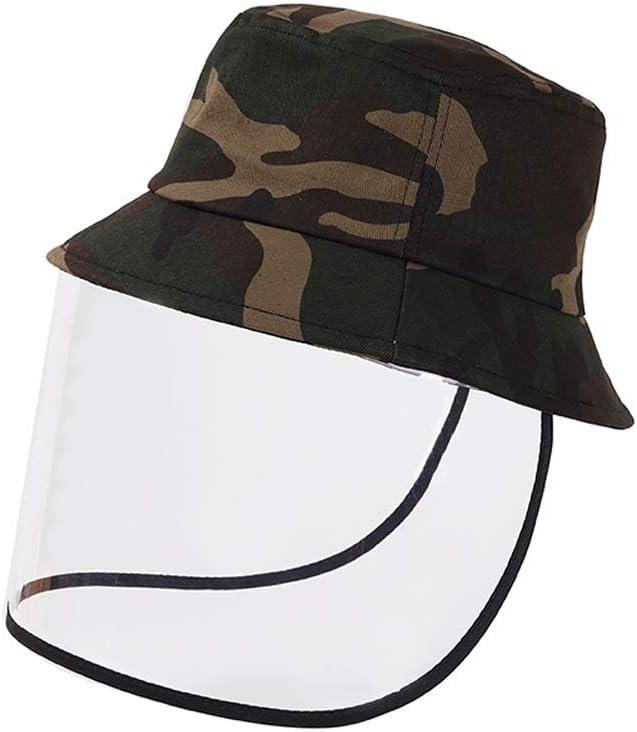 XIAOHE Sombrero De Protección De La Sra Sombrero con Anti-Salpicaduras Máscara De Sombra De Sol Al Aire Libre Sombrero Que Cubre Su Cara (Color : C)