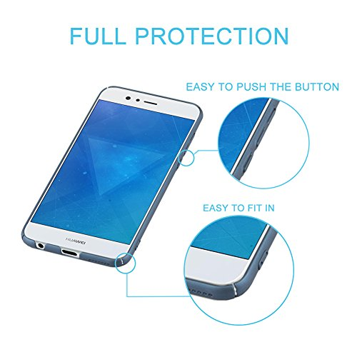 J&D Kompatibel für Huawei Nova 2 Plus Hülle, [Ultra Dünn] [Lightweight] erstklassige Matte schützende Hardcase für Huawei Nova 2 Plus - Dunkelblau - 3