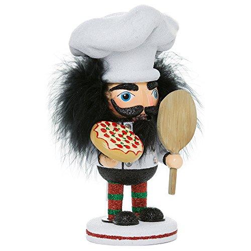 Kurt Adler-Hollywood Pizza Guy Nussknacker, weiß