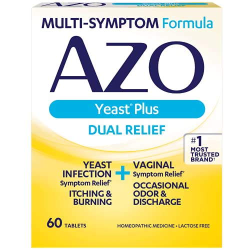 AZO Yeast Plus - Yeast Infection Symptom Relief: Itching & Burning - Vaginal...