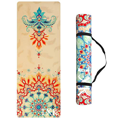 TXK Yoga Mat Non Slip Iyengar Yoga Mat For kids (3-6),Eco-Friendly Natural Rubber, Best for Yoga, Pilates, Exercise, And Workout,...