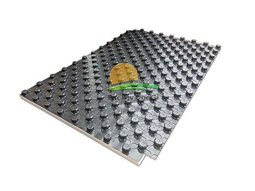Pannello radiante termoisolante con bugne per impianti di riscaldamento a pavimento (h 50 (30 + 20 bugna))