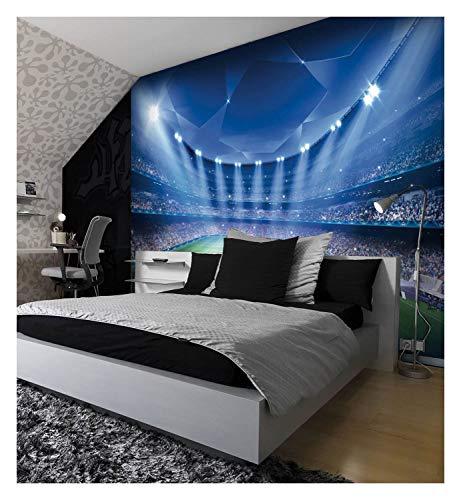 Football Stadium Pitch Sports Wall Mural Photo Wallpaper Kids Bedroom Decoration 260cmx175cm