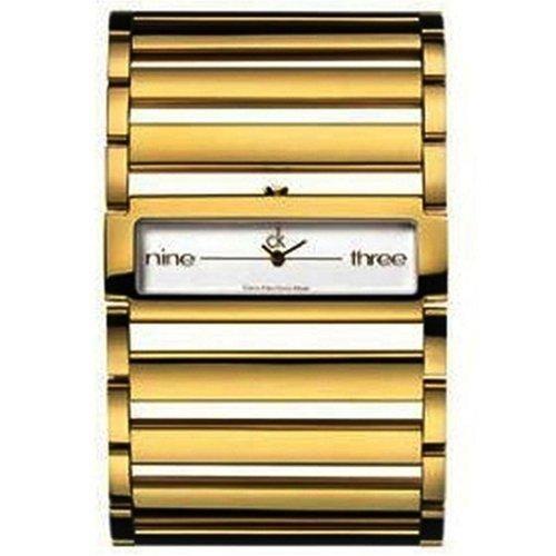 Calvin Klein K4423212 - Reloj analógico infantil de cuarzo con correa de acero inoxidable dorada - sumergible a 30 metros (Reacondicionado)