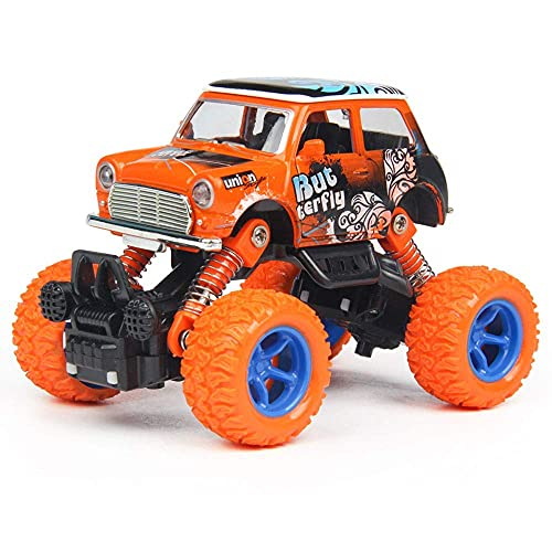 Alloy Toy Car 4-wheel Drive Pull Back Off-road Vehicle Children's Mountain Bike Toy Inertial Door Openable Anti-fall Boy Toy Car Gift (Color : Yellow) BJY969 ( Color : Orange )