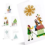 Felicitaciones de navidad illustrations. Pack de 10 tarjetas illustrations.