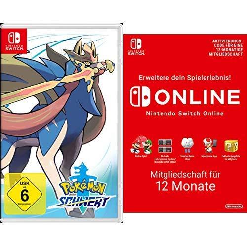 Pokémon Schwert [Nintendo Switch] + Switch Online 12 Monate [Download Code]