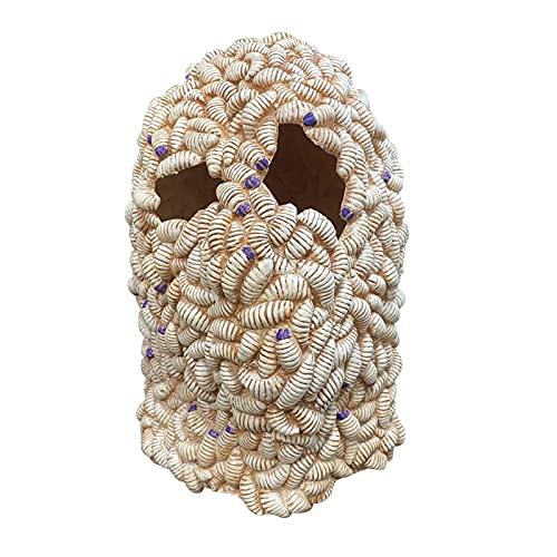 GDYJP Halloween Thriller Mask Múltiple Especificaciones Mascarillas de Gusano denso Moda Supersoft House House Cabeza Completa Máscara (Color : A, Tamaño : One Size)