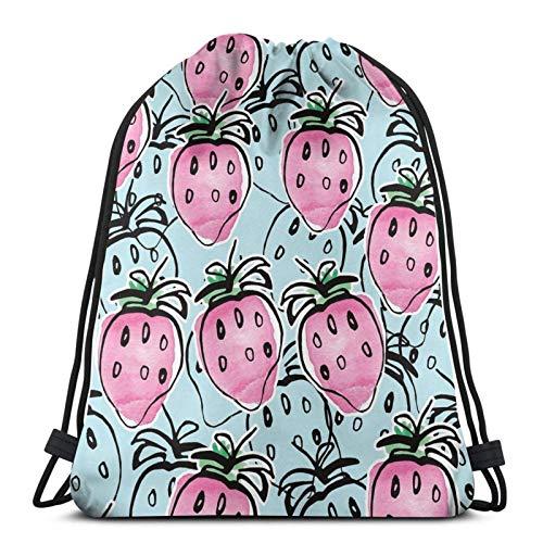 Strawberry Fields - Toalla de cara con cordón, mochila deportiva