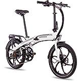 CHRISSON 20 Zoll E-Bike Klapprad eFolder Weiss - E-Faltrad mit Aikema Nabenmotor 250W, 36V, 30 Nm, Pedelec Faltrad für Damen und Herren, praktisches Elektro Klapprad