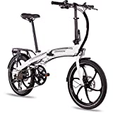 CHRISSON 20 Zoll E-Bike Klapprad eFolder Weiss - E-Faltrad mit Aikema Nabenmotor 250W, 36V, 30 Nm,...