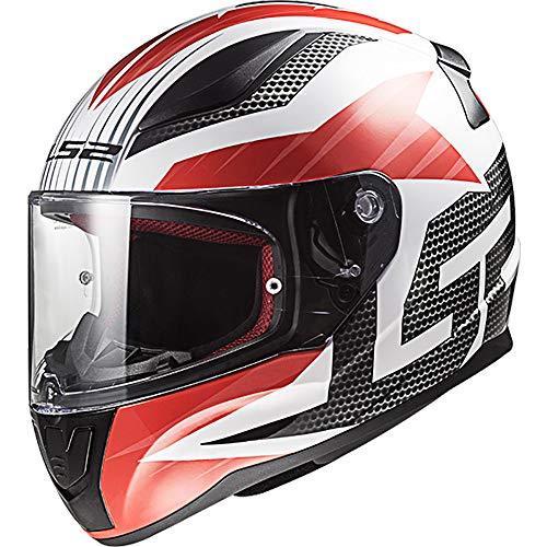 LS2FF353schnell Grill vollständigen Motorradhelm Integralhelm–Weiß Rot S (55-56cm)