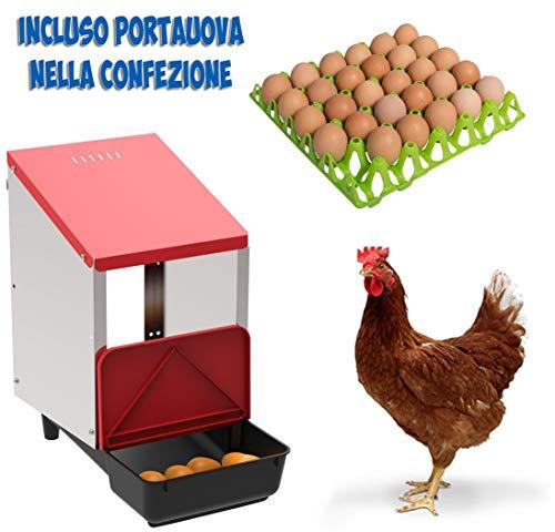 COPELE Copa Nido para gallinas ovales con 1 Compartimento, Modelo Platino, Incluye Bandeja para Recoger Huevos