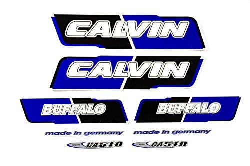 Fahrrad DEKOR Satz Aufkleber Rahmen Frame Decal Sticker Calvin Label Blau