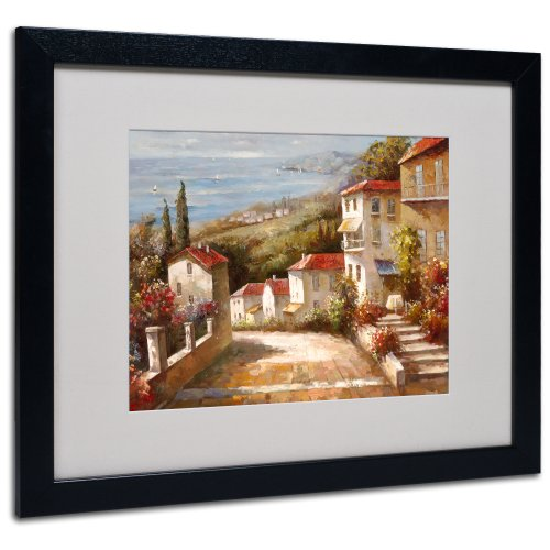 Home in Tuscany by Joval Canvas Artwork in Black Frame, 16 by 20-Inch