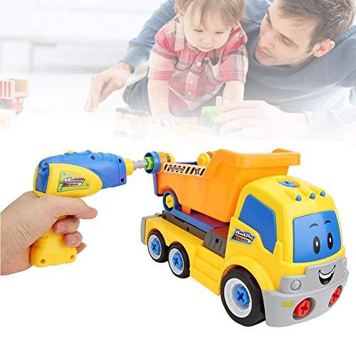 DYB Mi Primer Coche de Control Remoto, Juguete de ingeniería de simulación, Coche de Transporte de ingeniería de simulación eléctrica para niños, Juguete de vehículos de Tornillo ensamblado