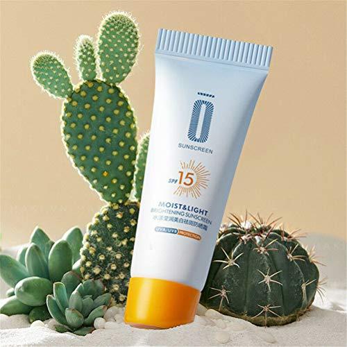 Protector solar blanqueador SPF 15 Crema solar Bloqueador solar Crema protectora de la piel del cuerpo facial, Loción hidratante de alta protección solar, Crema de protección solar facial (1 piezas)