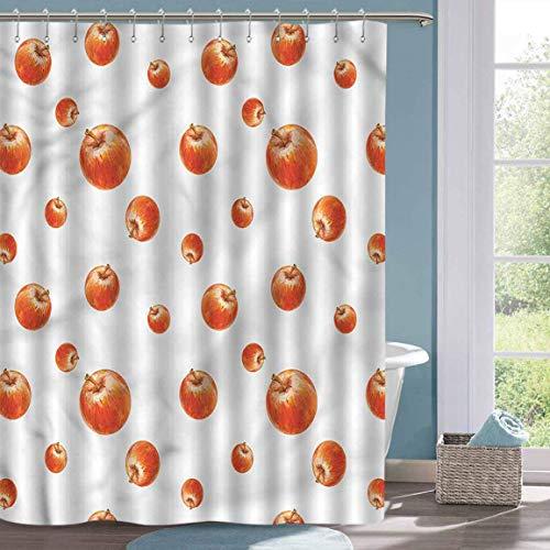Kleiner Duschvorhang Apfel Aquarell Cameo Früchte Duschvorhang