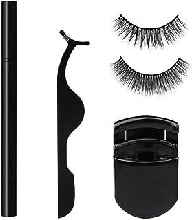 2 Pairs Magic False Eyelashes Artificial Eyelashes Curler Liquid Eyeliner Pencil 4