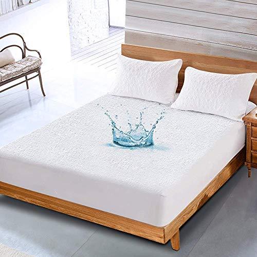 NESAILA 100% Wasserdichter Matratzenschoner   Hygienische und Atmungsaktive Matratzenauflage   Anti-Allergie Matratzenschutz   Wasserfester Rundumbezug   Matratzenbezug aus...