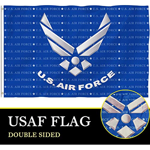 Bonsai Tree US Air Force Flag 4x6 Ft, Double Sided and Double Stitched Polyester USAF Army Flags with Brass Grommets, American Military Home Outdoor Banners Decorations Gifts