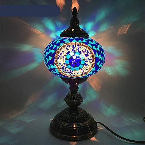 Retro Hand Gekleurde Glas lamp Slaapkamer Nachtlampje tafellamp 18 * 35 * 16CM