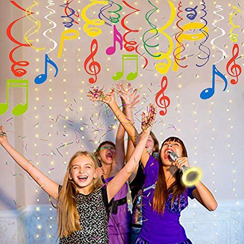 Sayala 30Ct Note Musicali Decorazione per Festa - Music Party Thame - Note Musicali Variopinte Vortice per Decorazioni per la Casa da Concerto