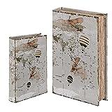 Vidal Regalos Caja con Forma de Libro Set 2 Unidades Mapamundi 26x17 cm