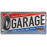 Nostalgic-Art Garage Placa Decorativa, Metal, Multicolor, 25 x 50 cm