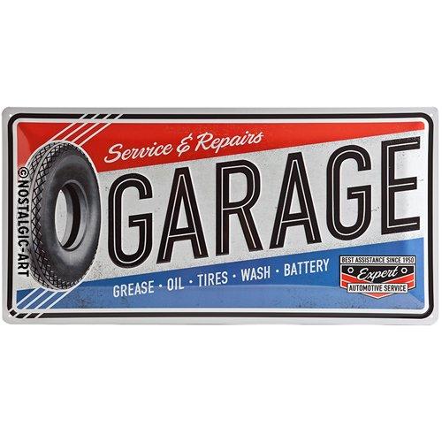 Nostalgic-Art 27004 Plaque rétro en tôle Motif Garage 25 x 50 cm