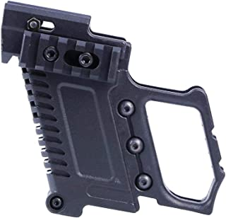 Tactical Area ABS Pistol Carbine Kit Mount W/Rail Panel for G17 G18 G19 GBB Series Accessorie-(BK)