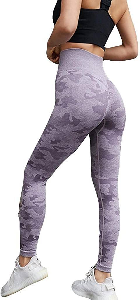 Lovor High Waisted Leggings for Women Camouflage Soft Tummy Control Slimming Yoga Pants for Workout Running Reg & Plus Size