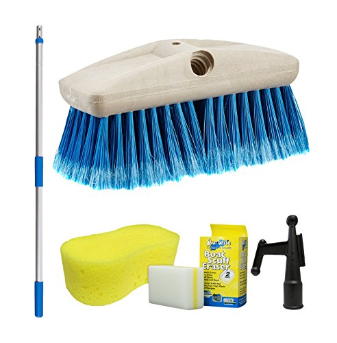 Star brite 040092-1FF Boat Brush 3'-6' Handle Combo with 8