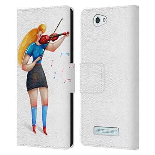 Offizielle Oilikki Violin Gemischte Designs Leder Brieftaschen Huelle kompatibel mit Wileyfox Spark/Plus