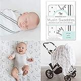 Amazing Baby by SwaddleDesigns - Set de 3 mantas de muselina para bebés