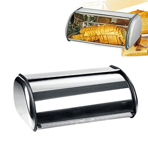 Espeedy Edelstahl Roll Top Brot Box Lagerplatz Küche Container Gebäck Backen Lieferungen
