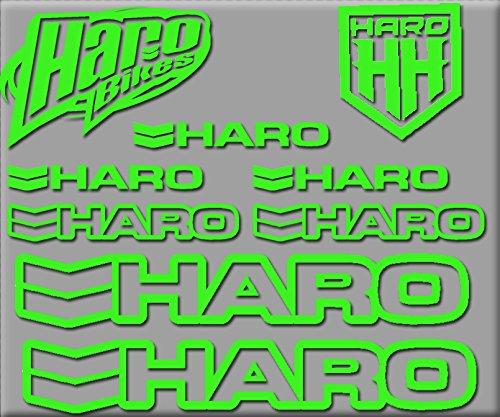 Ecoshirt NG-A438-5DIQ HARO Bikes R200 Stickers Aufkleber Decals Autocollants Adesivi, Green